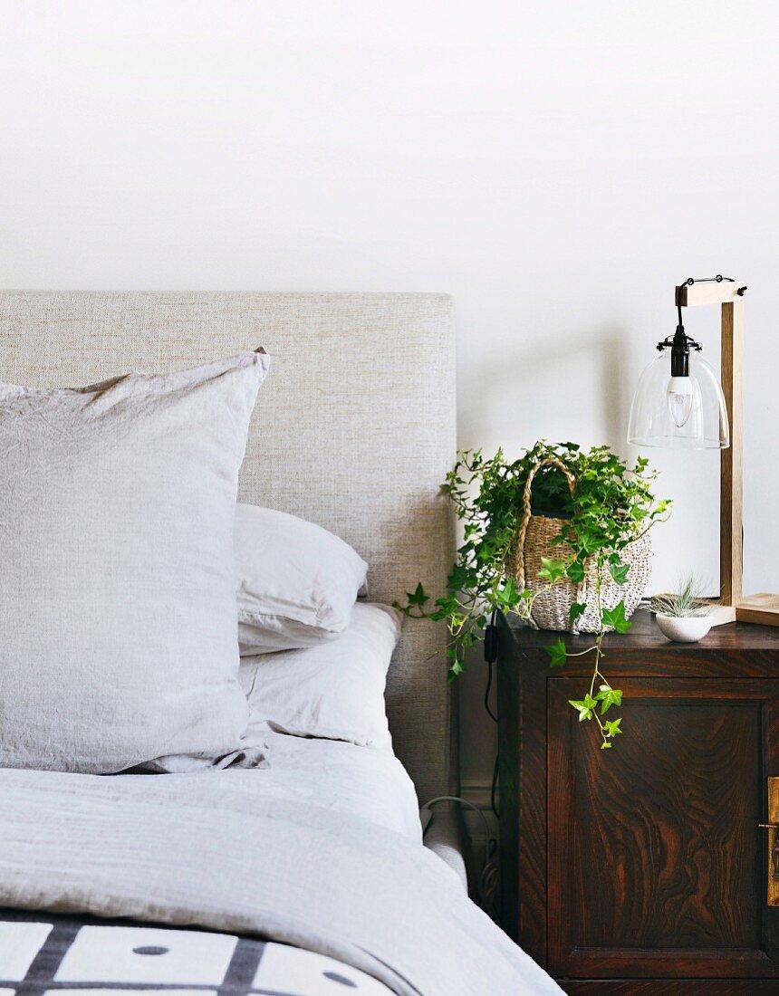 Antique Bedside Table With Bedside Lamp Buy Image 11503719 Living4media