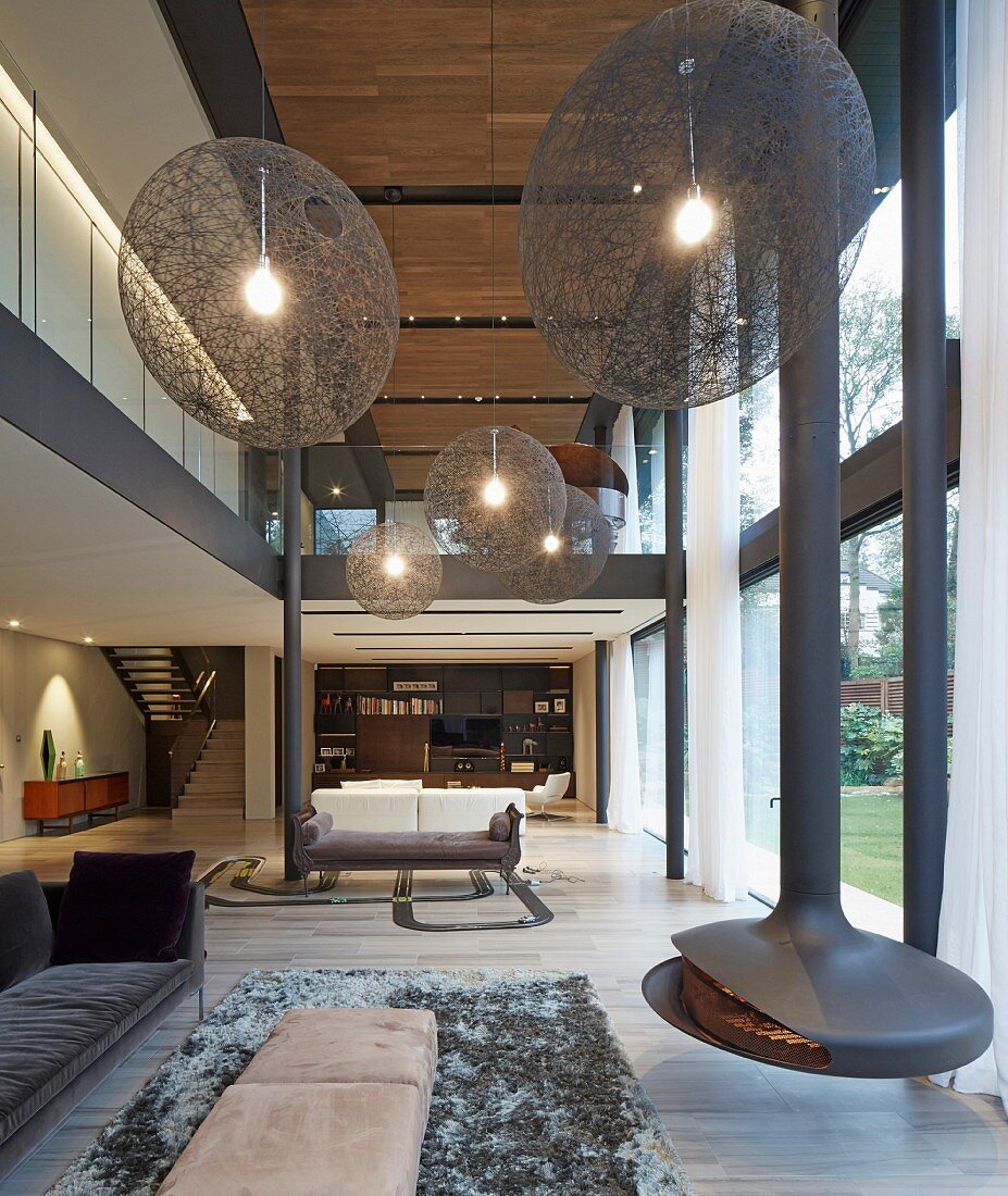 Huge Spherical Lamps And Suspended Buy Image 11514965 Living4media
