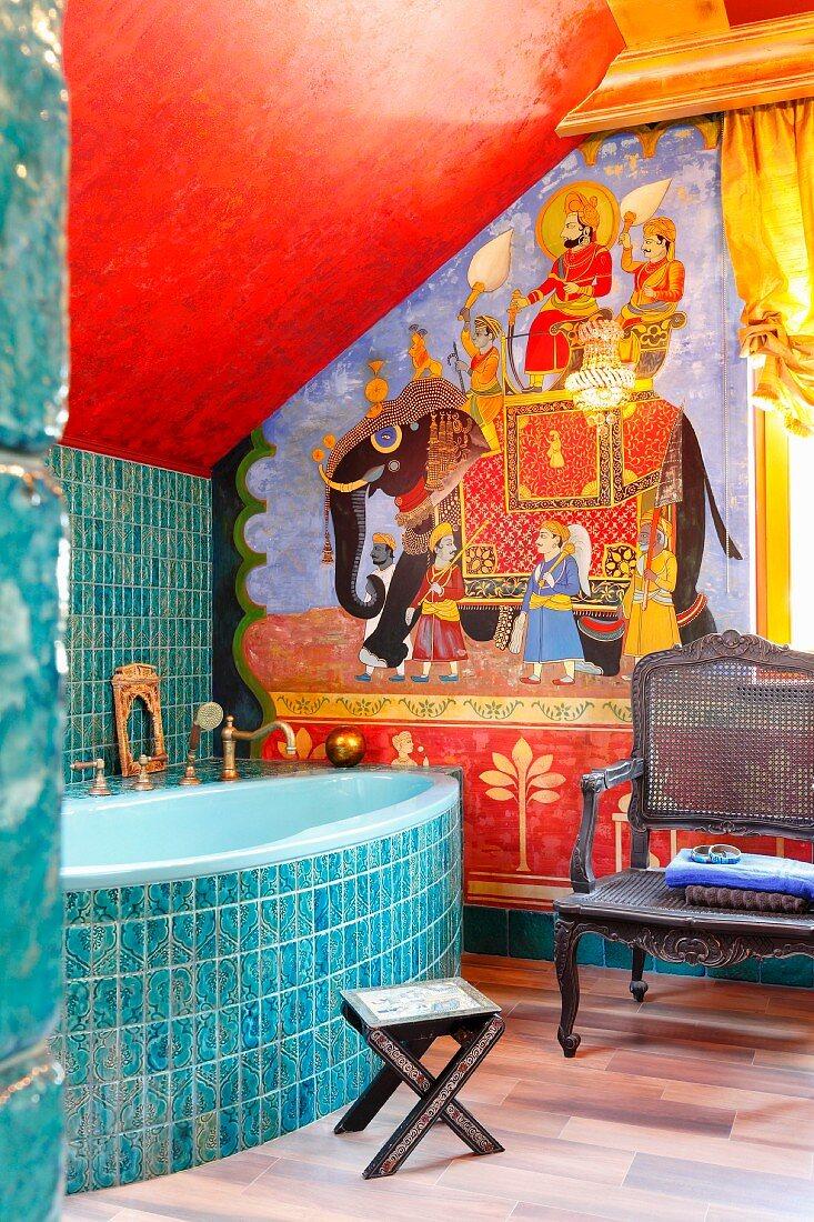 Orientalisch gestaltetes Bad mit … – Bild kaufen – 20 ...