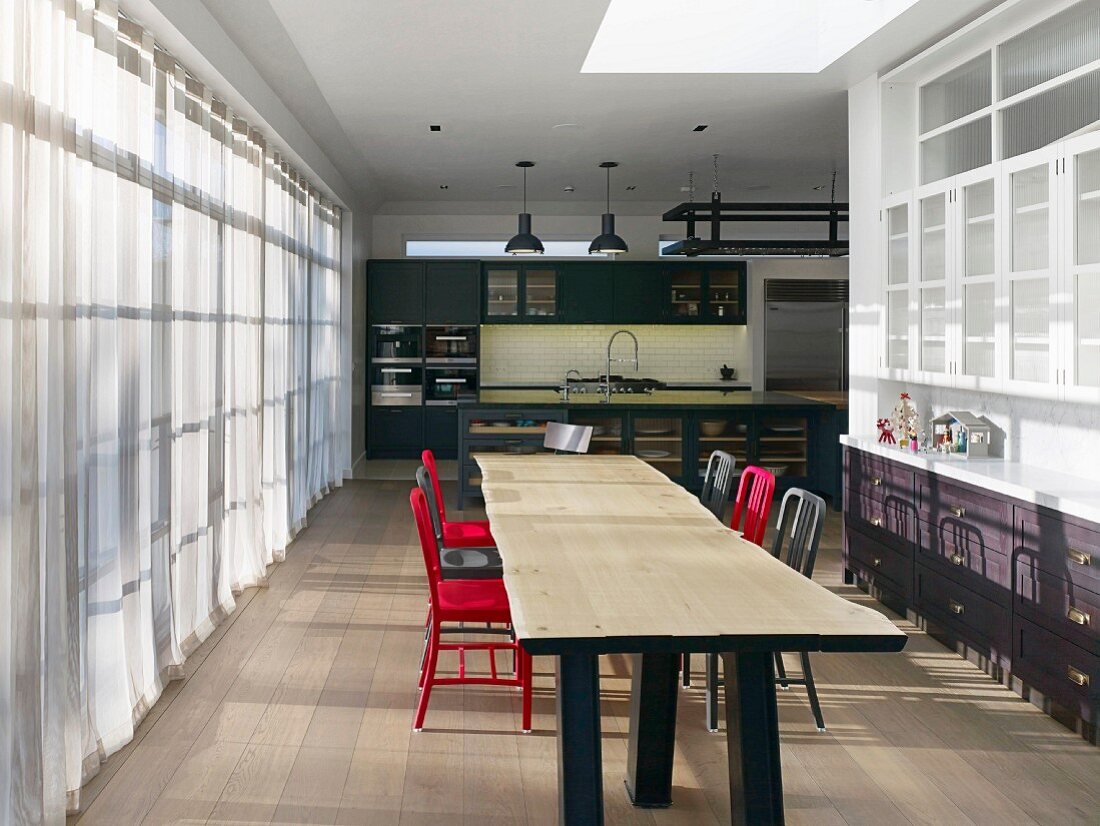 Long Wooden Dining Table In Buy Image 12088111 Living4media
