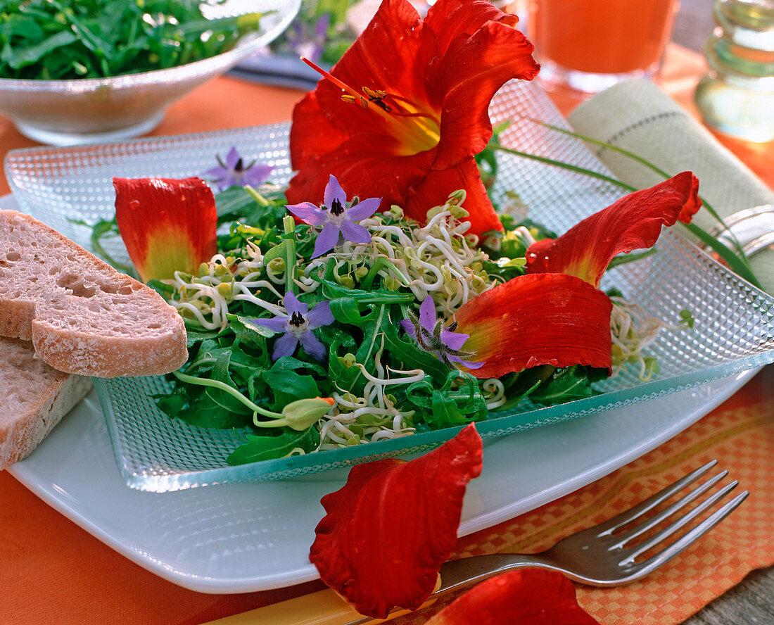 Edible decoration, Hemerocallis (Daylily)