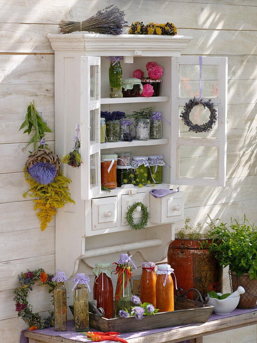 Cupboard with homemade treats