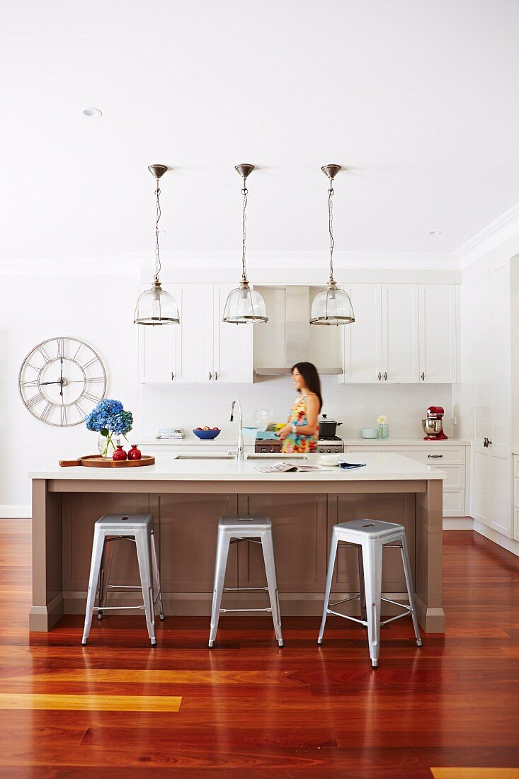 Kitchen Island And Retro Bar Stool Under Buy Image 11966515 Living4media