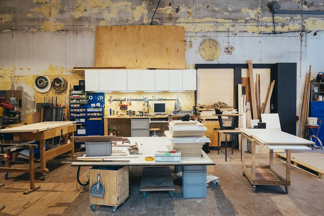 Interior of a carpenter's workshop