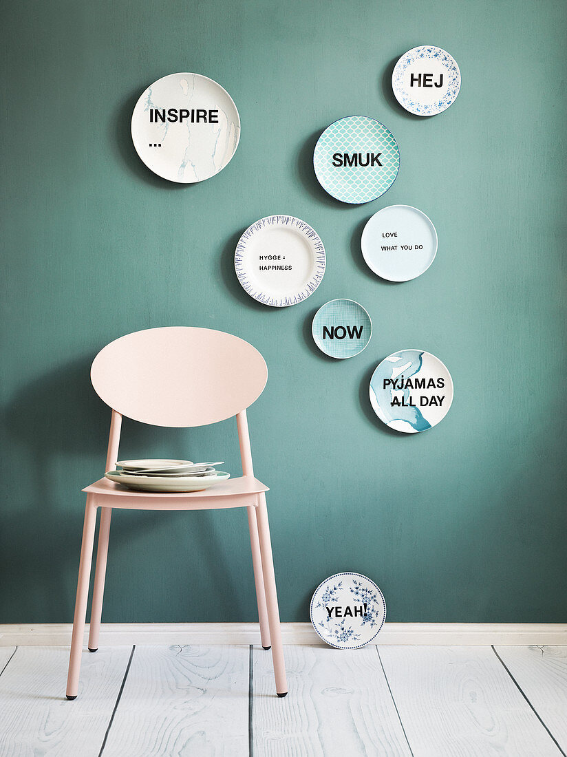 Homemade wall plates with slogans