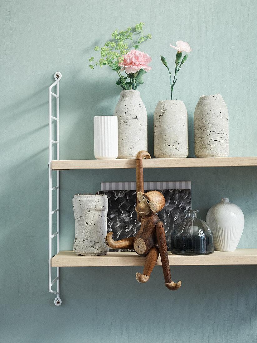 Homemade concrete vases