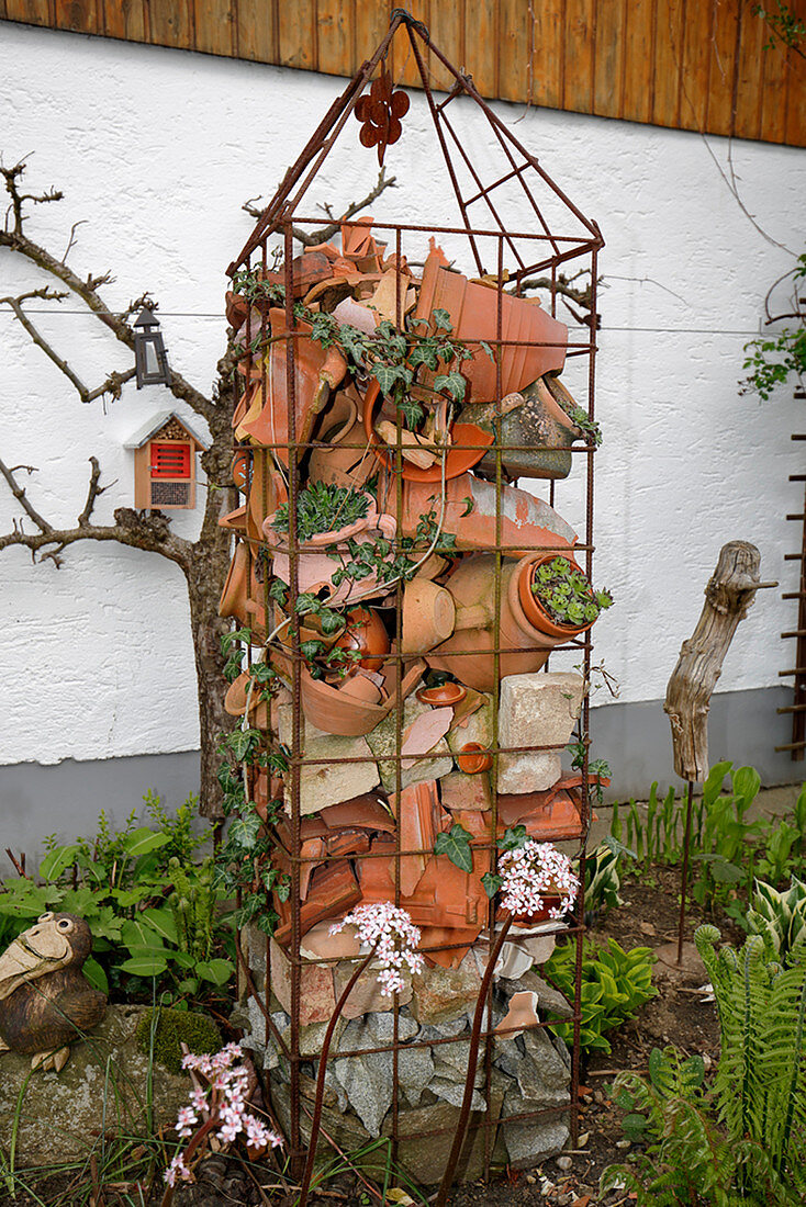 Trellis Filled With Potsherds