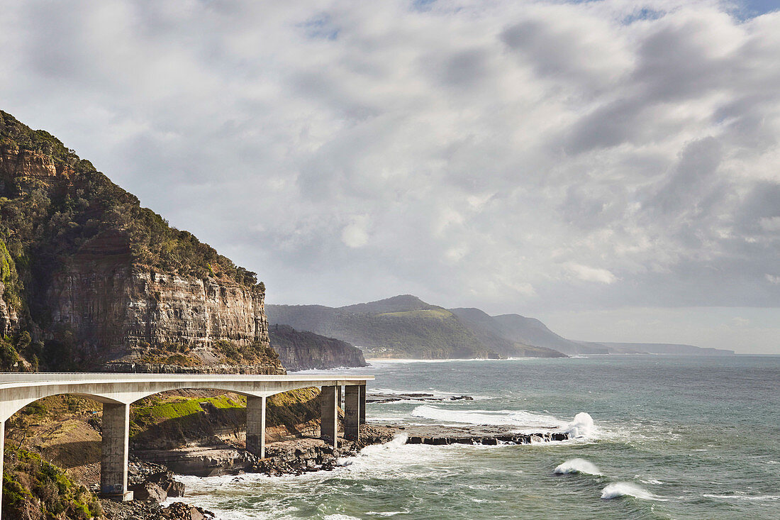 the Coal Coast of southern New South Wales, South Coast, NSW, Sea Cliff Bridge