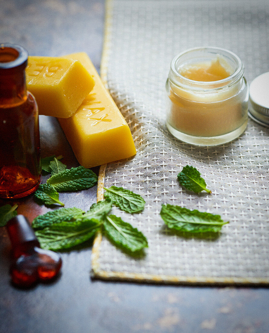 Beeswax and mint