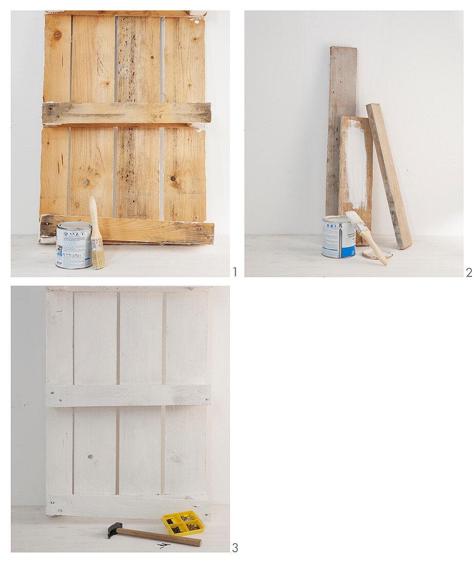 Anleitung für eine Regal aus einer kleinen Palette und Restholz
