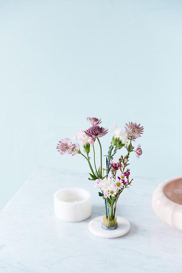Natural Flower Arrangement In Floral Buy Image 12534049 Living4media