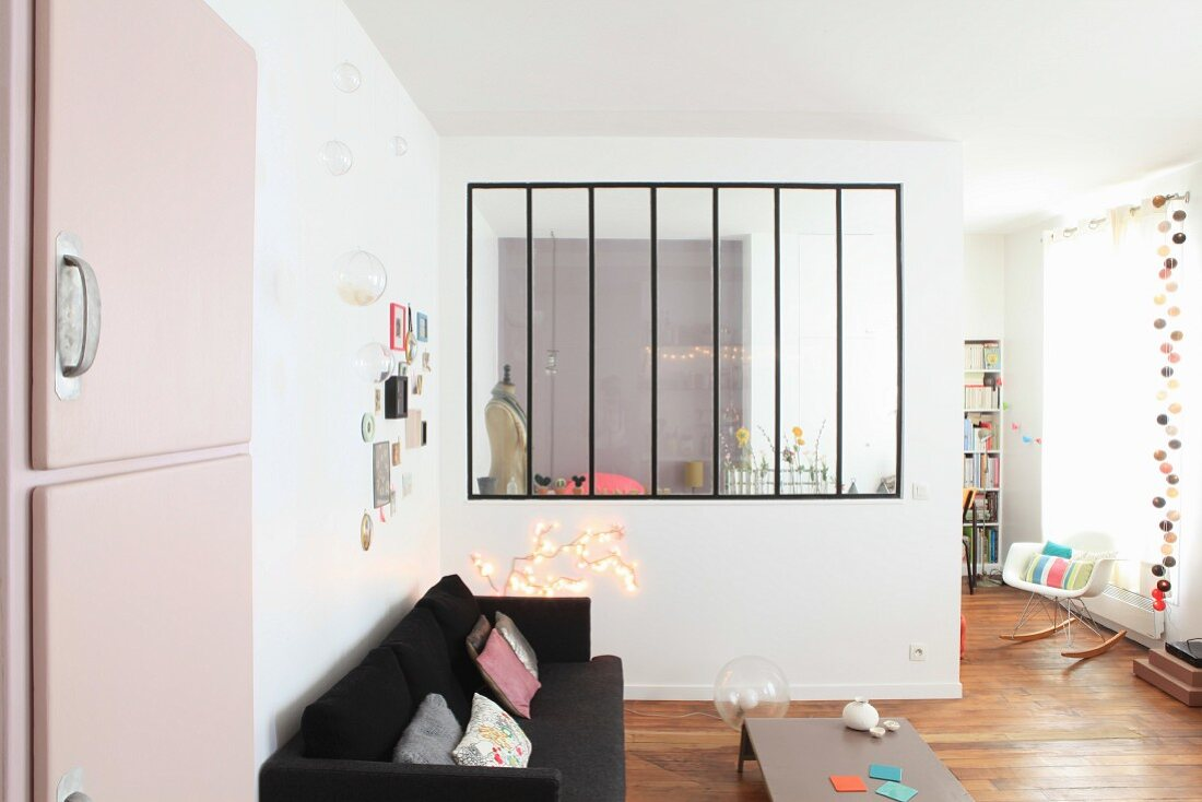 Partition Wall With Interior Window In Buy Image 12292461 Living4media
