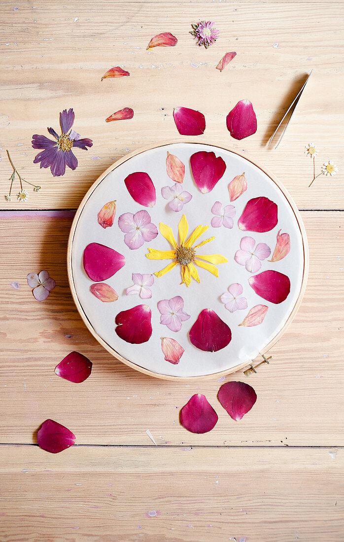 DIY floral mandala