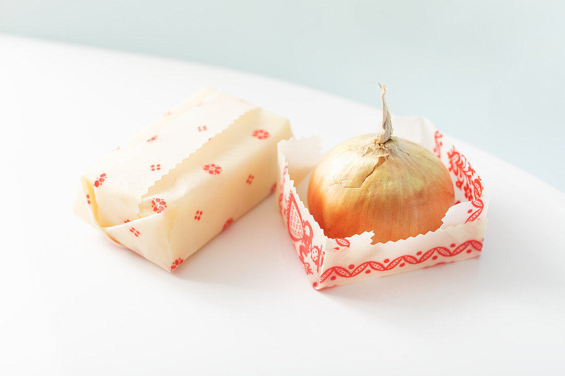 Handmade waxed wraps for storing food