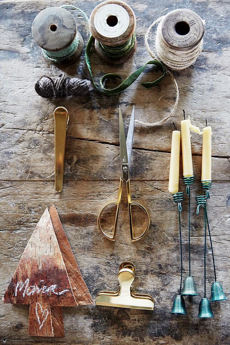 Utensils for making Christmas decrations