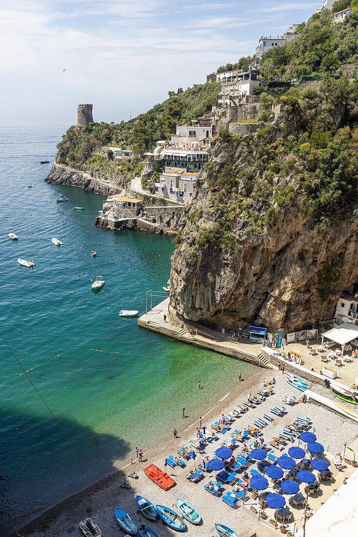 Spiaggia Grande, Praiano, Amalfi Coast, Campania, Italy