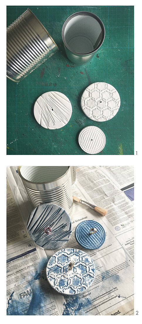 Upcycling tin cans for decorative purposes