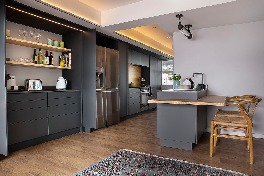 Charcoal Grey Kitchen Cabinets Running Buy Image 12990157 Living4media