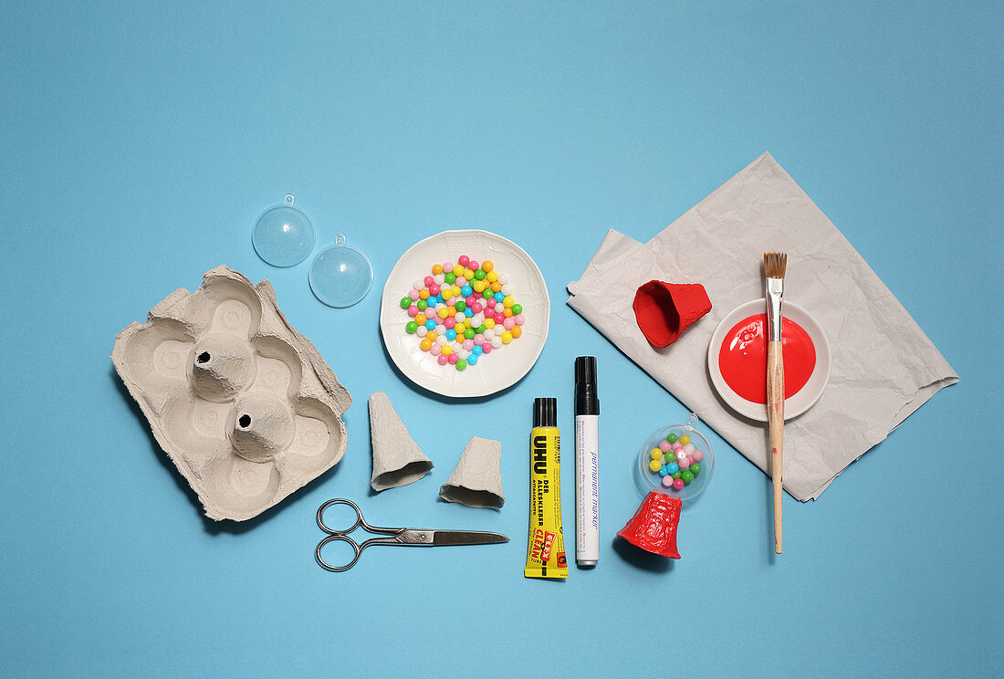 Materials for making miniature bubblegum machine decorations