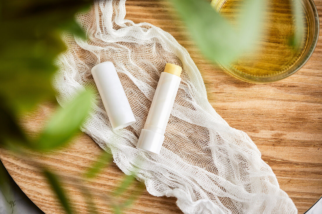 Handmade, natural lip balm