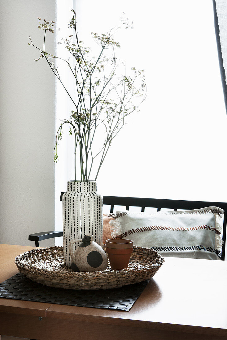Vase of fennel flowers