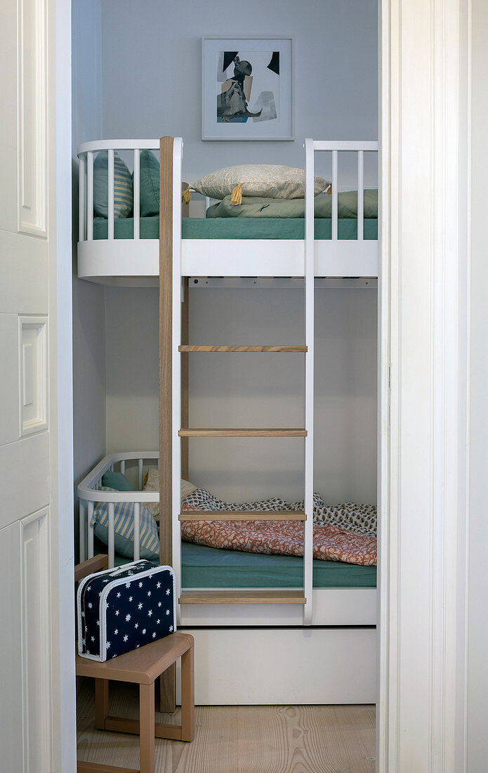 View of bunk beds in children's bedroom