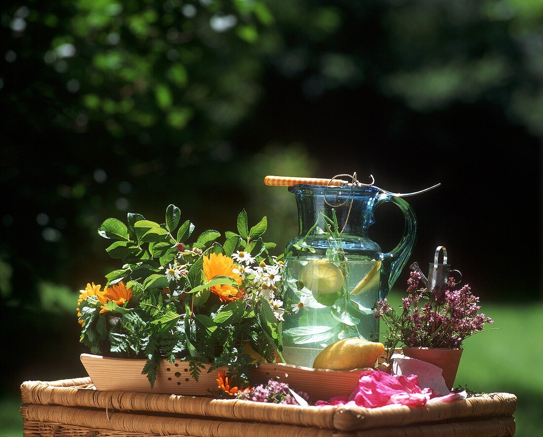 Summer flower tea - can be drunk warm or cold