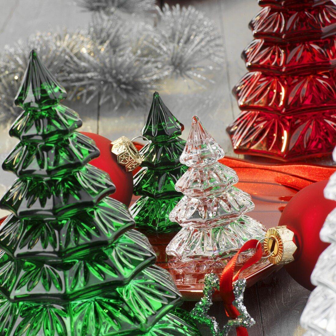 Small Glass Christmas Trees Table Buy Image 288363 Living4media