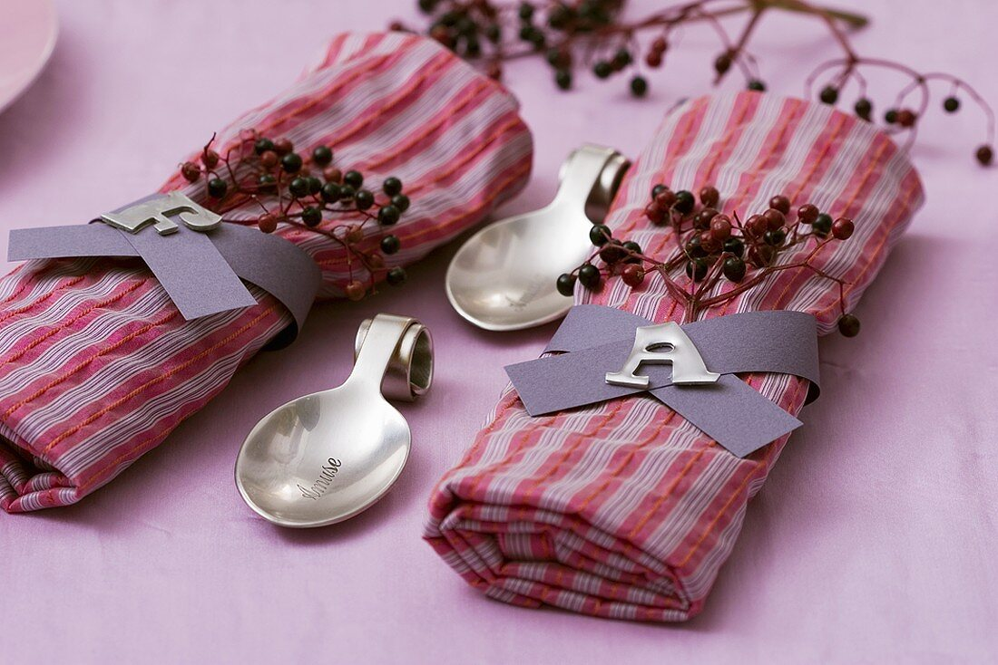 Two Fabric Napkins With Napkin Rings And Buy Image 321033 Living4media