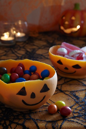 Home-made Halloween chocolate dishes