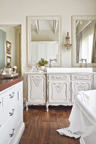 Antique White Cabinet Used As Washstand Buy Image 11403453 Living4media