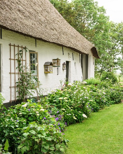 Traditional Frisian thatched famhouse from the 17th century