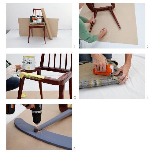 Schaukelstuhl aus Retro Holzstuhl bauen