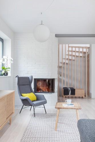 Bright, Scandinavian-style living room