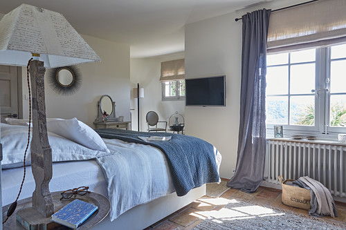 Rustic bedroom in natural shades