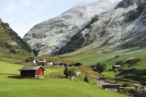 Fane alpine pasture, South Tyrol, Italy