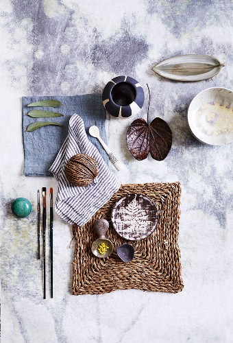 Various decorative items made from natural materials