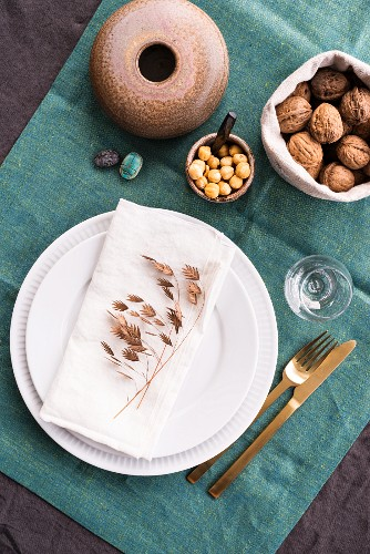 Vintage-style place setting