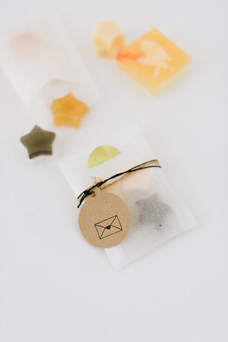 Handmade soaps in gift bags