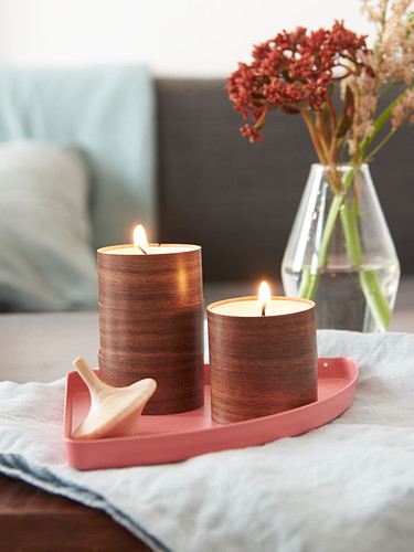 DIY tealight holders made from edging strips