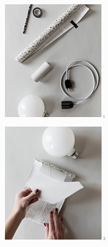 Instructions for making pendant lamp