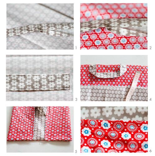 Instructions for making oilcloth and cotton cake bag