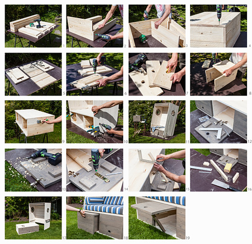 Instructions for building a wooden beach chair