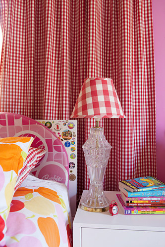 Colorful Bed Linen Bedside Table And Buy Image 12599397 Living4media