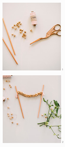 Instructions for making cake garland with tiny bells