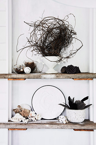 Vintage Christmas decoration with natural finds