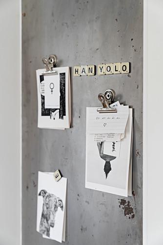Sheet metal notice board