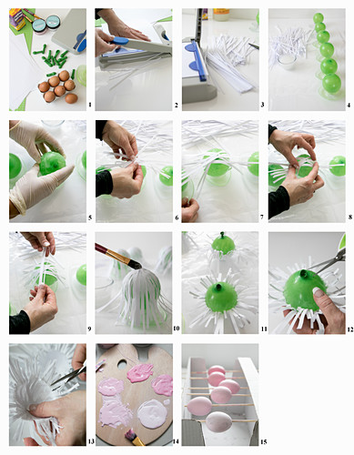 Instructions for making paper nests Easter eggs