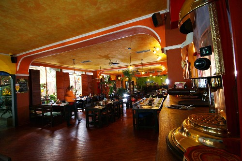 The dining room in Cuban restaurant Havana in Brno, Czech Republic
