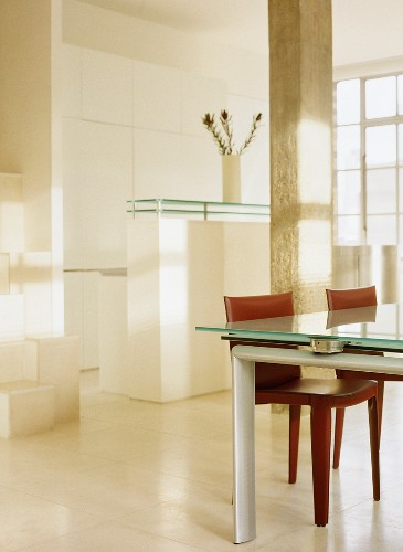 Glass Dining Table With Red Upholstered Buy Image 709129 Living4media